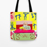 matisse Tote Bags featuring matisse at work by ALDO AAB