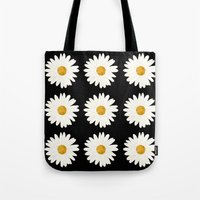 daisy Tote Bags featuring Daisy by nessieness