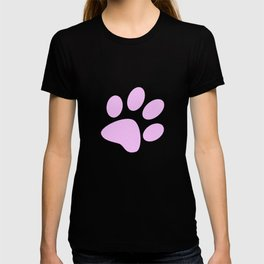 Tiny Paw Prints Pretty Pink Pattern T-shirt