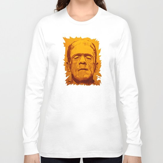 The creature - orange Long Sleeve T-shirt