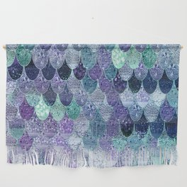 SUMMER MERMAID  Purple & Mint by Monika Strigel Wall Hanging