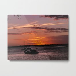 Sunset Burrum Heads- Fraser Coast, Australia Metal Print