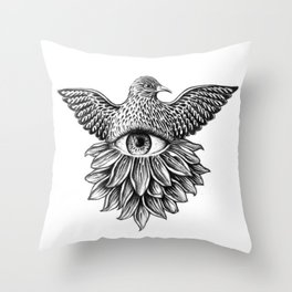 Vide Omnia Throw Pillow