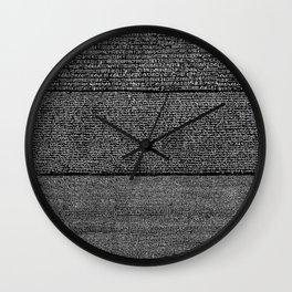 The Rosetta Stone // Black Wall Clock