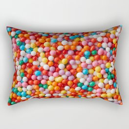 Multicolored candy drops Rectangular Pillow