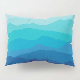 Blue Mist Mountains Pillow Sham