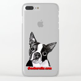 Boston Terrier Clear iPhone Case