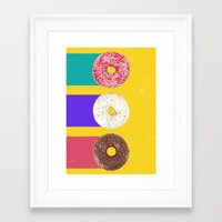 donuts Framed Art Prints featuring Donuts by Danny Ivan