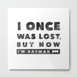 I once was lost... Metal Print