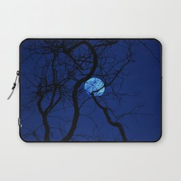 Bare Tree Branches and Full Moon Laptop Sleeve