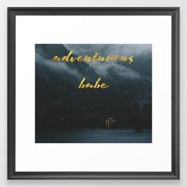 adventurous babe Framed Art Print