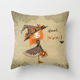 Almost Halloween!!!! Throw Pillow
