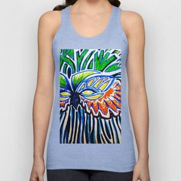 Tropical mask Unisex Tank Top