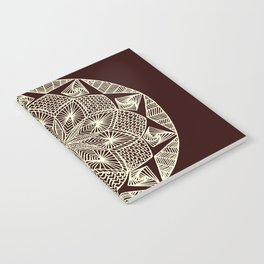 Maroon Mandala Notebook