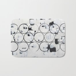 """No. 29 - Print of Original Acrylic Painting on canvas - 16"""" x 20"""" - (White and black) Bath Mat"""