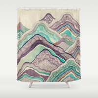 minerals Shower Curtains featuring Hillside by rskinner1122