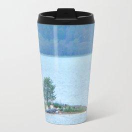 Through binoculars and cellphone Travel Mug