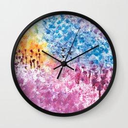 Abstract Landscape Illustration Wall Clock