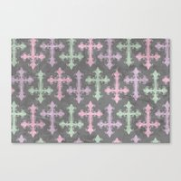 pastel goth Canvas Prints featuring Pastel Goth | Grunge Grey by Glitterati Grunge