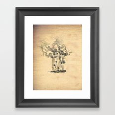 Blown Away Framed Art Print
