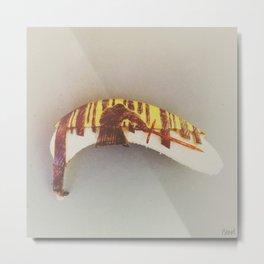 The Force Awakes (on a banana) Metal Print