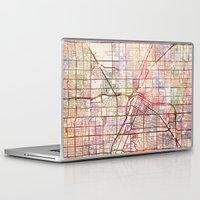 las vegas Laptop & iPad Skins featuring Las Vegas by MapMapMaps.Watercolors