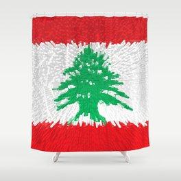 Extruded flag of Lebanon Shower Curtain