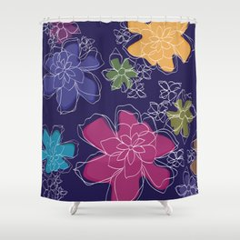 Floral - #Bright #Flowers #Abstract #Pattern Shower Curtain