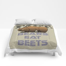 Bears Eat Beets Comforters