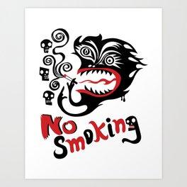 No Smoking - Monster Art Print