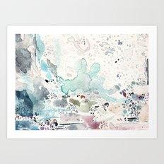 Blue Watercolor Art Print