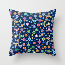 Hydrocarbons in Space Throw Pillow