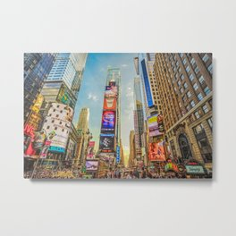 Times Square Hustle Metal Print