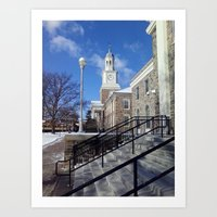 college Art Prints featuring College Life by Reginald S. Burrell