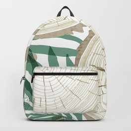 Trunk wood and plants Backpack