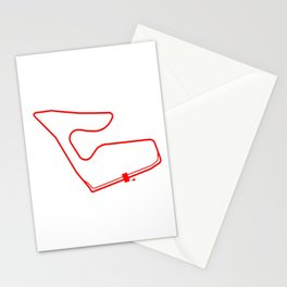 Racetrack Ring Red Stationery Cards