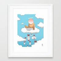 bombs away Framed Art Prints featuring Bombs Away by Ken Walendzik