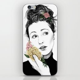 Delicate rose - floral portrait 1 of 3 iPhone Skin