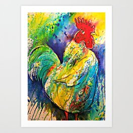 Henry the Rooster Art Print