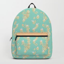 Magnolia swans (turquoise green background) Backpack
