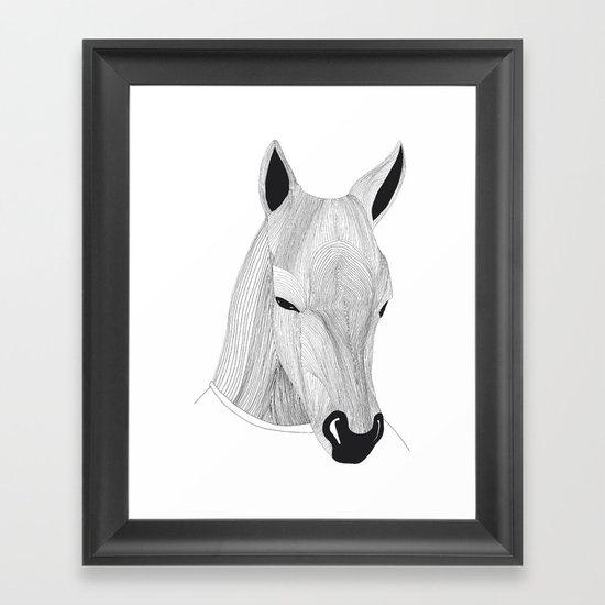 -Horse- Framed Art Print