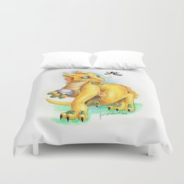 Chinese Zodiac Year of the Dragon Duvet Cover