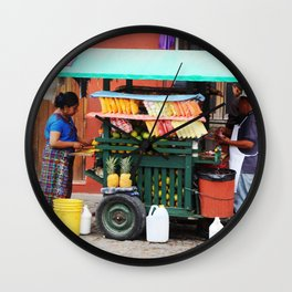 Guatemalan Fruit stand Wall Clock