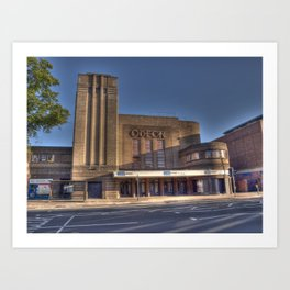 Odeon Cinema York Art Print