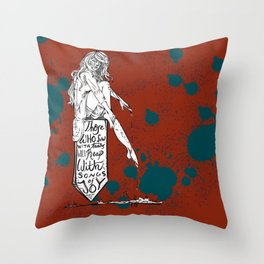 """""""Sow in Tears"""" Throw Pillow"""