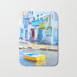 232. Colorful Klima, Greece Bath Mat
