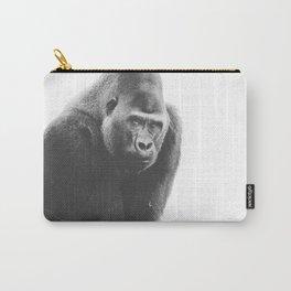 Silverback Gorilla (black + white) Carry-All Pouch