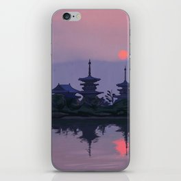 Yakushiji at Sunset iPhone Skin