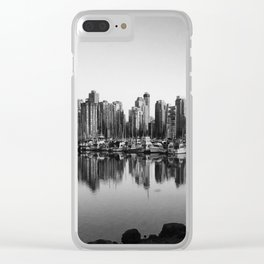 Black and White City Clear iPhone Case