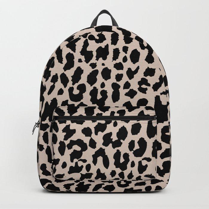 Tan Leopard Backpack